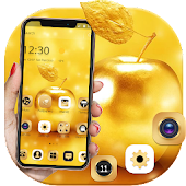 Gold Luxury Apple Theme For XS