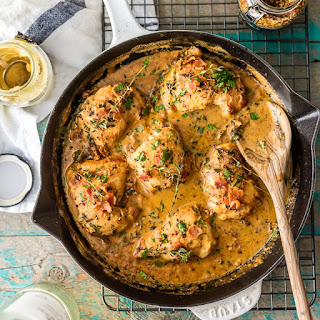 One Pot Mustard Chicken and Bacon Skillet