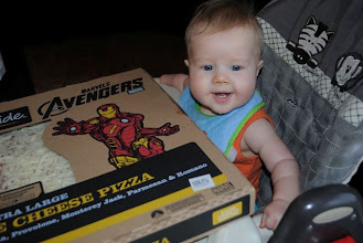 Photo: Corbin was happy during pizza night, even though he didn't get to have any.