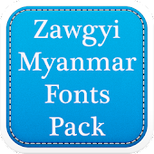 Zawgyi Myanmar Fonts Pack