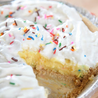 Cake Batter Cream Pie