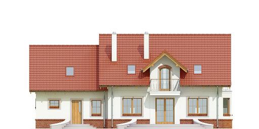 Dom Dla Ciebie 1 w2 z garażem 2-st. A1 - Elewacja tylna