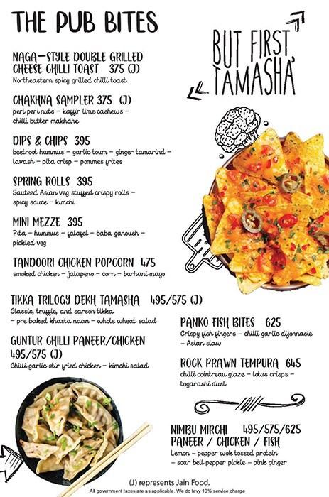 Tamasha menu 14