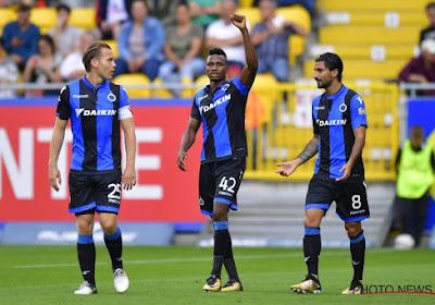 Voici les deux onze de Bruges - AEK