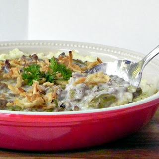 Green Bean and Beef Pie Casserole
