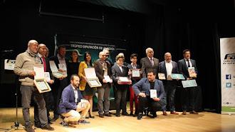 Todos los premiados con el Presidente de la Federación Andaluza, Manuel Alonso