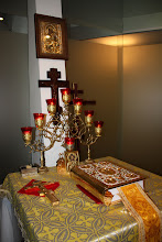 Photo: Празднование 5-летия прихода в Остенде - Viering 5 jaar orthodoxe parochie te Oostende - Altaartafel