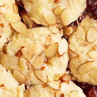 Cherry Cobbler with Sweet Cream Biscuits.