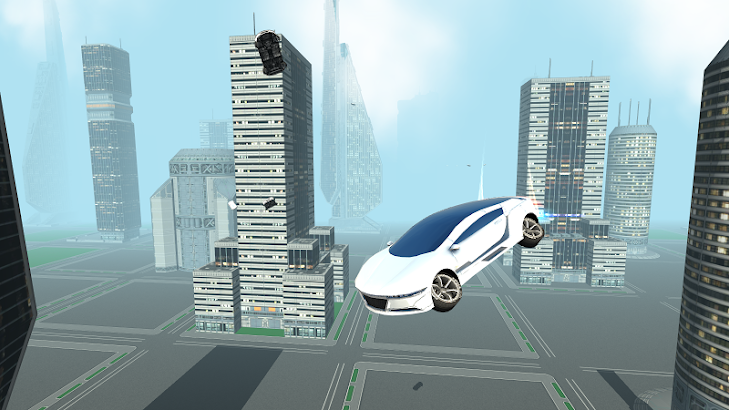 Futuristic Flying Car Driving screenshot