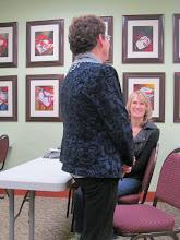 Photo: Margaret Zeaphey introduces herself