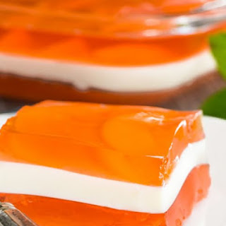Peaches And Cream Layered Jelly
