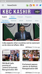 NewsOnAir PrasarBharati Official app AIR News+Live - Apps on