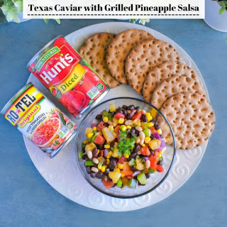 Texas Caviar with Grilled Pineapple Salsa.