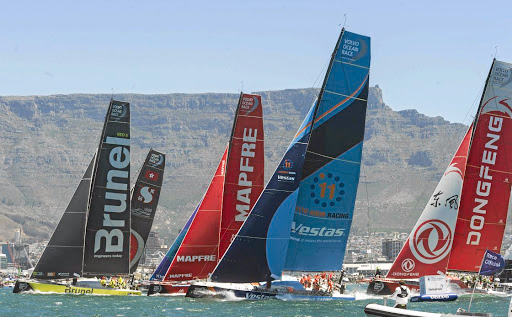 Volvo Ocean Race from Cape Town to Melbourne. Picture: PETER HEEGER/GALLO IMAGES
