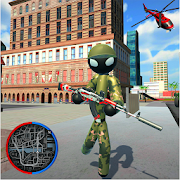 Hero Stickman Rope Army - FPS Spider Shooter
