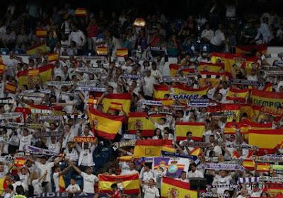 """""""Eviva España"""": Fans Real Madrid showen massaal de Spaanse vlag en zien Isco uitblinken met twee goals"""