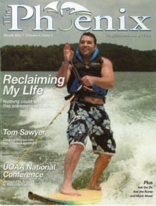 Richard O'Hamill on the cover of the Phoenix Magazine