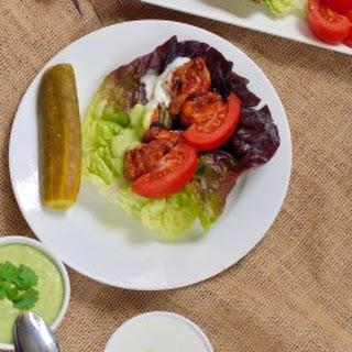 Barbecue Chicken Lettuce Wraps.
