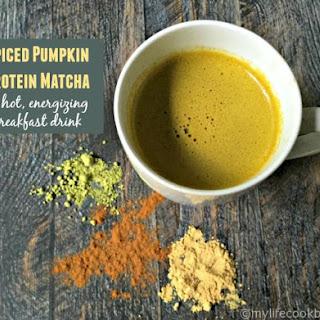 Spiced Pumpkin Protein Matcha