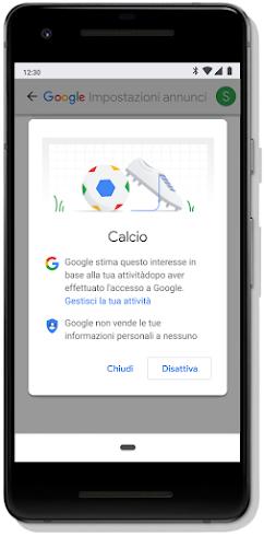 Hai tu il controllo della tua esperienza pubblicitaria su Google