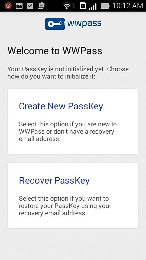 WWPass PassKey Lite- screenshot