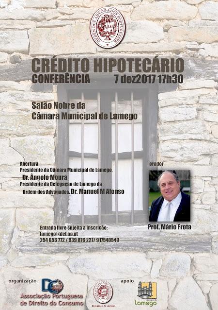 """Crédito Hipotecário"""" - 7 de Dezembro - Salão Nobre da Câmara Municipal de Lamego"""