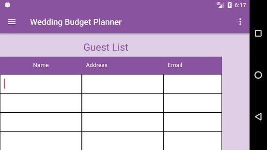 Wedding budget planner apps on google play screenshot image junglespirit Gallery