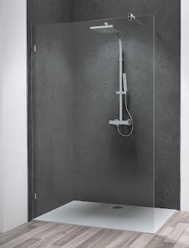 Duschwand Walk In in Nische oder als alleinstehende Seitenwand