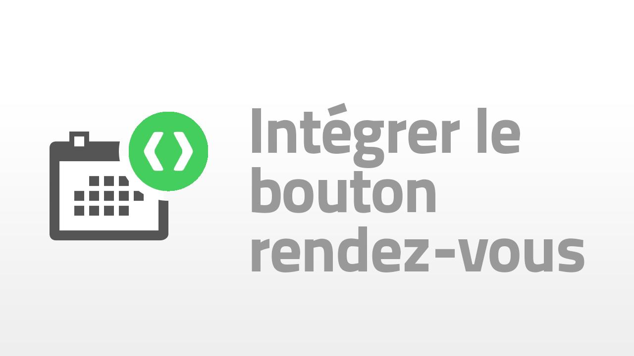 integrer le bouton rendez-vous
