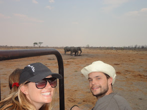 Photo: Me and Adam and some elephants drinking