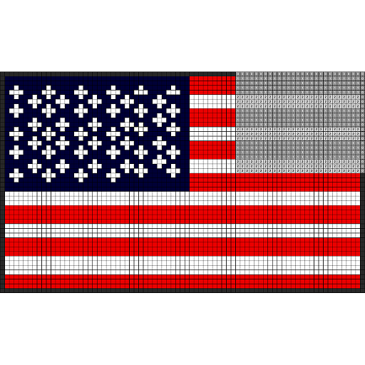 Flags Color by Number: Pixel Art, Sandbox Coloring Icon