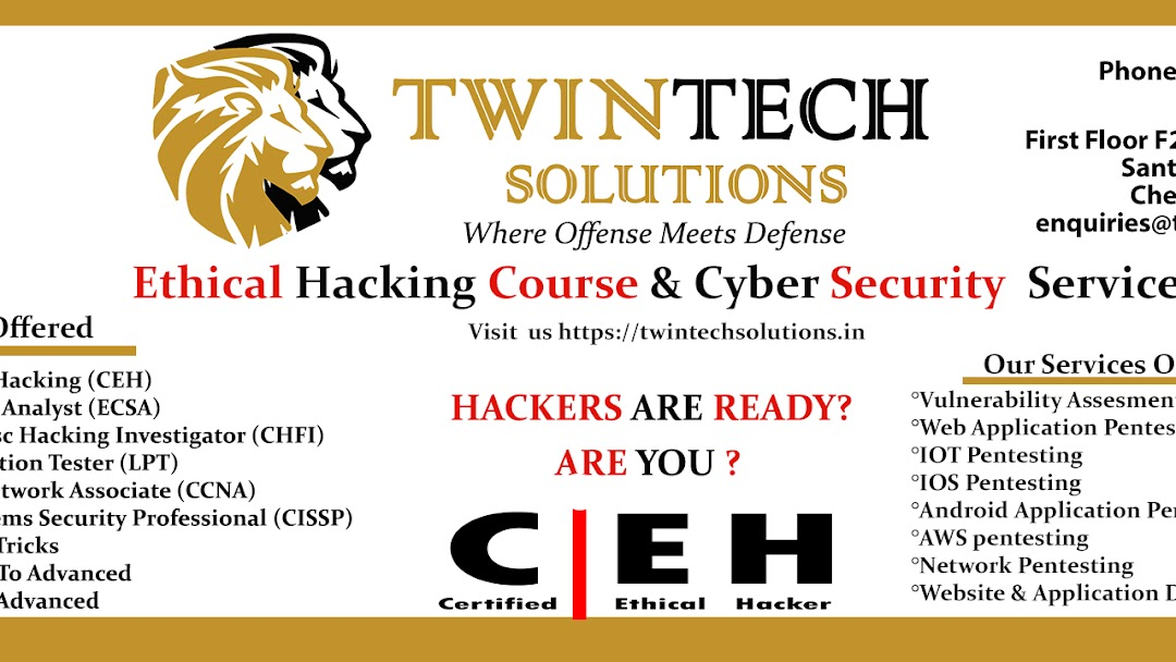 Twintech Solutions | Ethical Hacking CEH, ECSA, CHFI