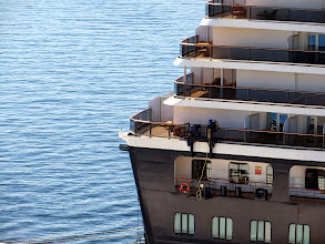 Photo: Our balcony on Westerdam will be the same as the largest one here, just above the Promenade deck on Oosterdam.