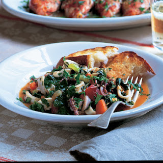 Squid with Spinach.