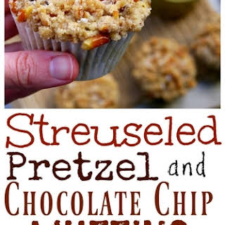 Streuseled Pretzel and Chocolate Chip Buttermilk Muffins.