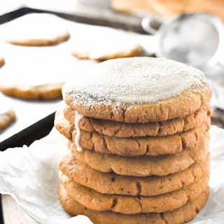 Crispy Pumpkin Sugar Cookies with Ginger Maple Glaze.