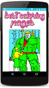 coloring incredible superhero coloring pages - náhled
