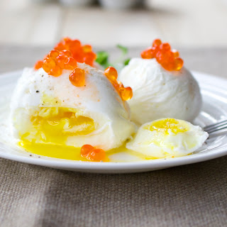 Poached Eggs with Salmon Roe