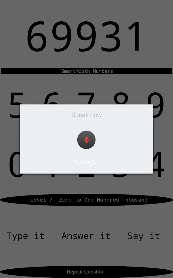 Smart Mouth Numbers- screenshot