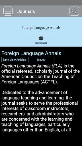 Foreign Language Annals