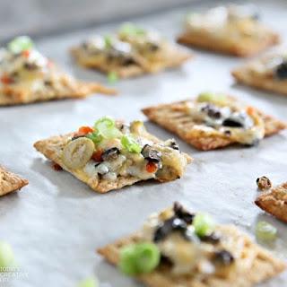 Cheesy Olive Cracker Snacks.