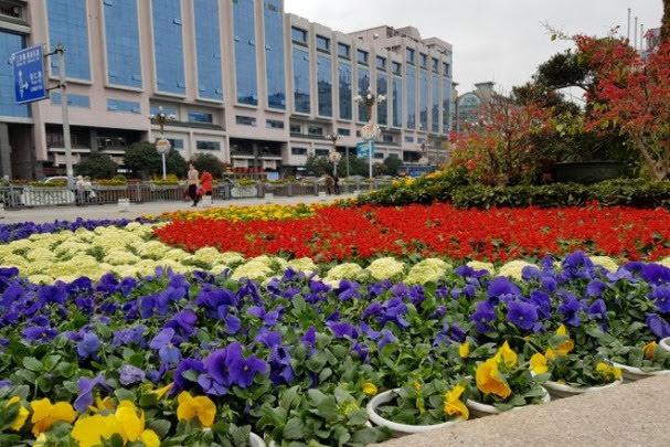 Praça central de Guilin