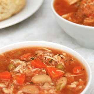 Slow Cooker Chicken Vegetable Soup.