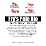 Uncle Bear's Fry's Pale Ale