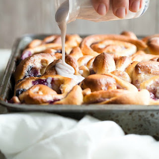 Blueberry Glazed Breakfast Buns