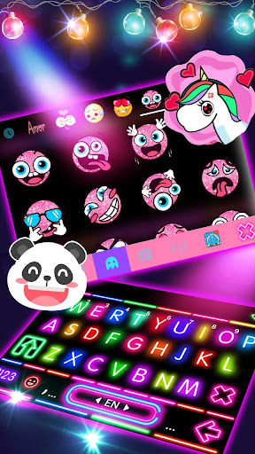 Sparkle Neon Lights Keyboard Theme 1.0 screenshots 3