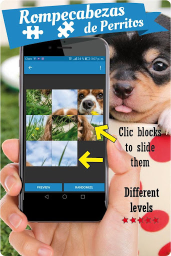 Dogs puzzle games free, slide puzzle cute puppies screenshots 3