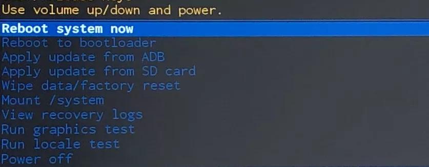 включаем опцию «Reboot system now»