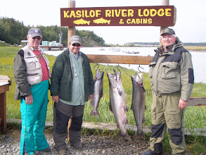 Photo: The nearby Kasilof River supports a popular King Salmon fishery.