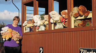 Teddy Bears on the railway